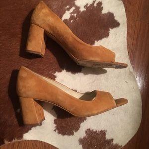 Zara suede block heel